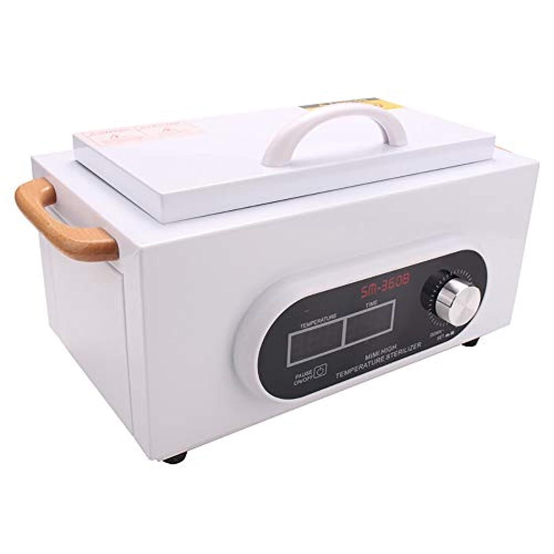 防止トランク代表して300W LCDディスプレイプロフェッショナル高温殺菌ボックスネイルアートサロンポータブル消毒殺菌マニキュアツールドライ熱滅菌