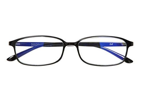 スクエア型PCめがね|Zoff PC CLEAR PACK (ブルーライト50%カット) ゾフ PCメガネ 眼鏡 めがね 黒縁 ダテメガネ メンズ 男性用 レディース 女性用 プラスチック