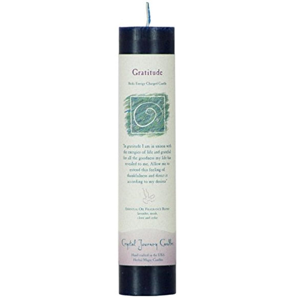 提供された化粧粘性の魔法のヒーリングキャンドル グラティチュード(感謝)