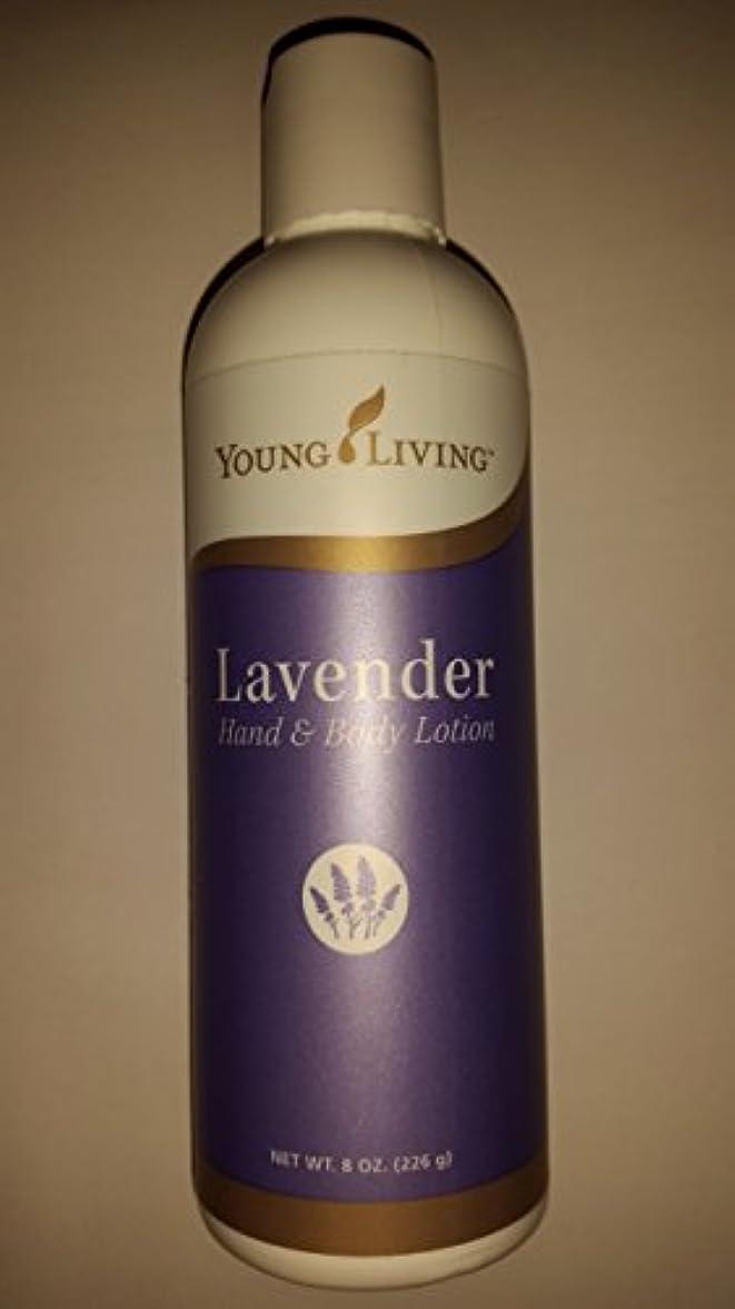 フローティング小間からに変化するYoung Living ラベンダーハンド&ボディローション - 8 fl。オンス