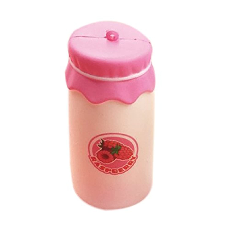 toymytoy Slow Rising Squeeze ToyミルクボトルKawaii手枕おもちゃセル電話バッグストラップペンダント(ピンク)