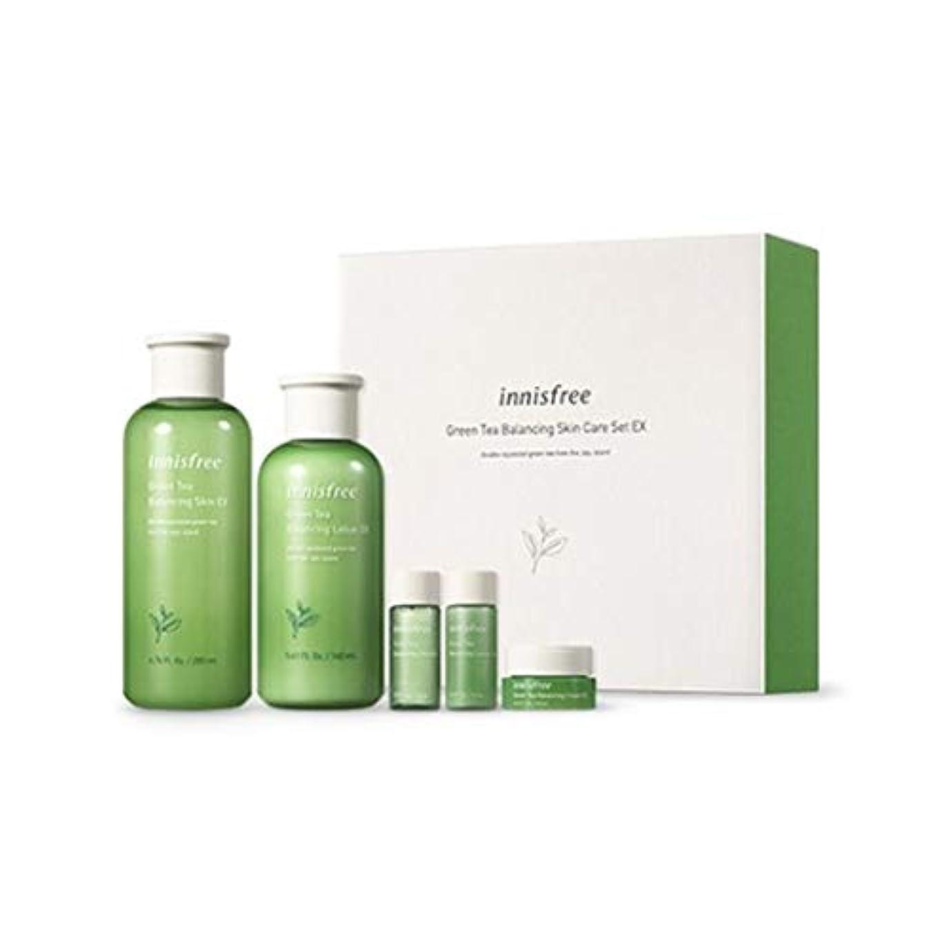 主張乱暴な継続中イニスフリーグリーンティーバランシングスキンケアセットの水分ケア韓国コスメ、innisfree Green Tea Balancing Skin Care Set Korean Cosmetics [並行輸入品]