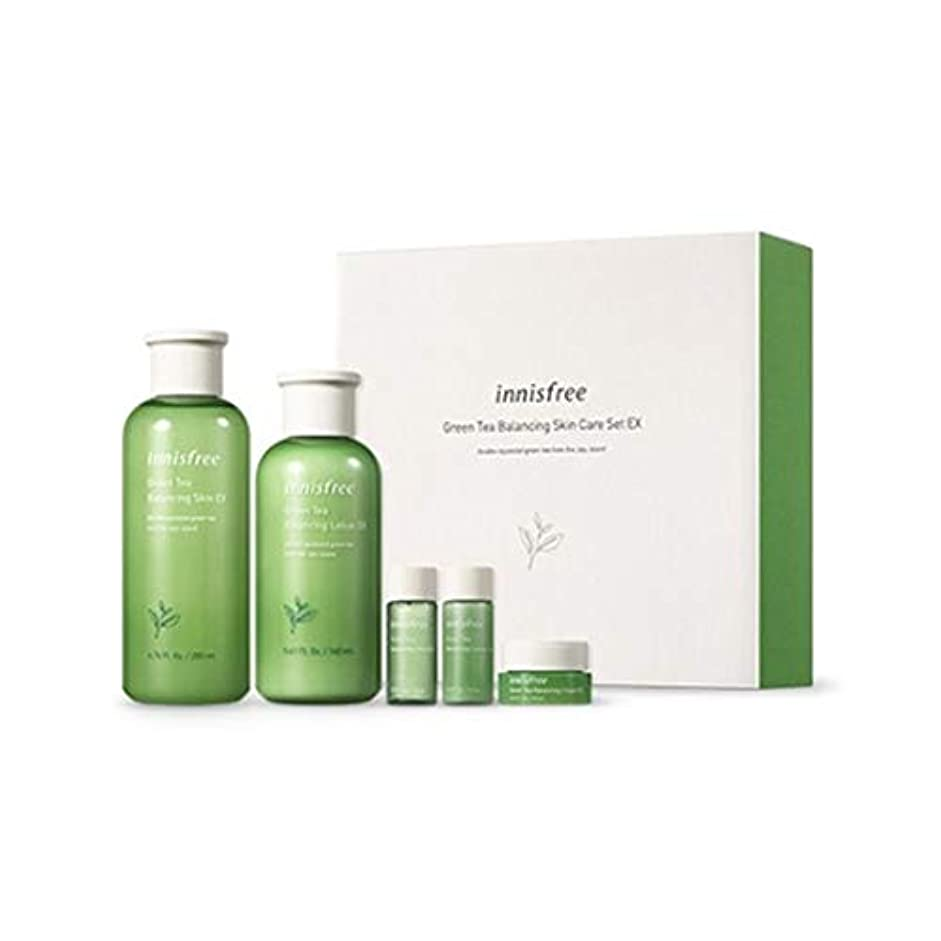 広げる小説スラッシュイニスフリーグリーンティーバランシングスキンケアセットの水分ケア韓国コスメ、innisfree Green Tea Balancing Skin Care Set Korean Cosmetics [並行輸入品]
