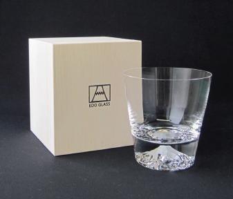 プレゼント 富士山グラス ロックグラス 2個セット 田島硝子 本物 即納可能