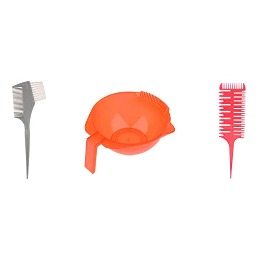 四回解放対応CUTICATE ヘアダイブラシ プロ用 へアカラーセット DIY髪染め用 サロン美髪師用 ヘアカラーの用具ボウル付き