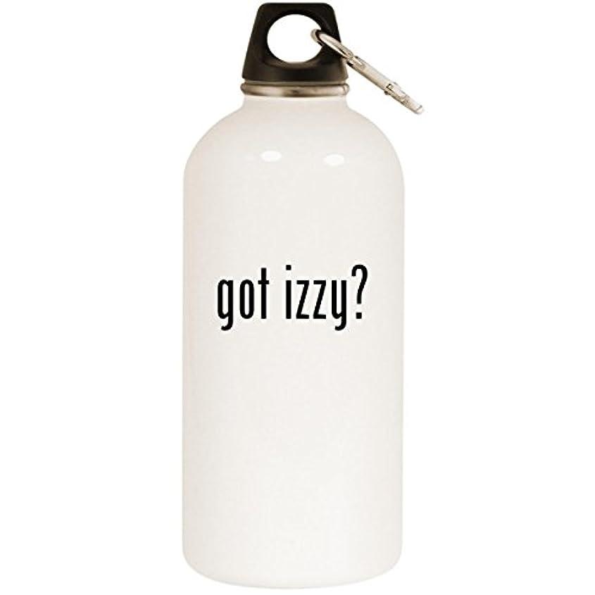 残基上がる残酷なGot Izzy ? – ホワイト20ozステンレススチールウォーターボトルカラビナ