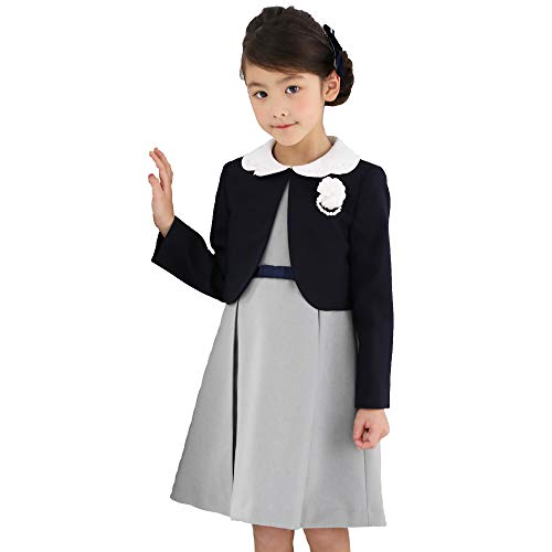 CHOPIN(ショパン) 入学式 女の子 卒園式 スーツ 8801-8313 ウエストリボンアンサンブル 紺 ネイビー 115 120 130cm