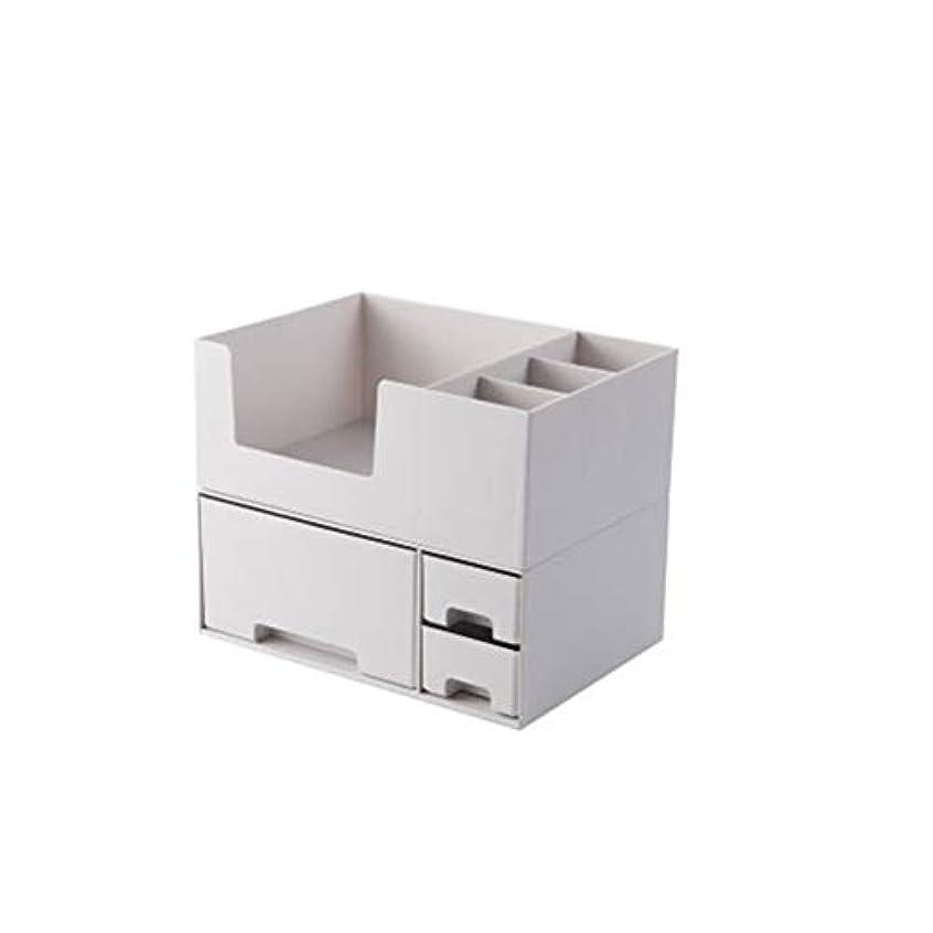 拾う食堂永遠に収納ボックス 化粧品収納 メイクボックス 大容量 アクセサリボックス 引き出し 仕切り 蓋なし 卓上収納 整理簡単 騒音なし 多容量 2段式 小物入れ ジュエリー収納 オシャレ 收納抜群 可愛い ギフト