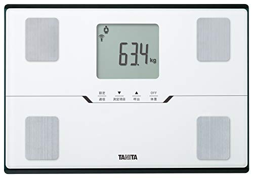 タニタ 体重 体組成計 ホワイト BC-768 WH スマホでデータ管理 立てかけ収納OK -
