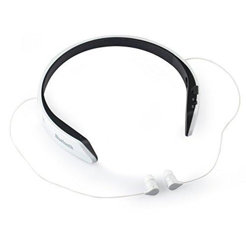 LittleStream Bluetooth イヤホン 高音質 ハンズフリー通話 ネックバンド型 CVC6.0ノイズキャンセリング機能搭載 防水 防滴 スポーツ仕様 ワイヤレス イヤホン 白