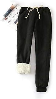Yeokou Women's Warm Sherpa Lined Athletic Sweatpants Joggers Fleece P