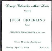 Atlanta Recital 1959