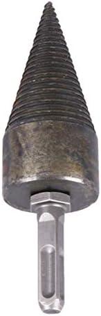 YARNOW 32mm Splitting Wood Cone Drill Bit - Triangle Heavy Duty Drill Screw Cone Driver,Portable Wood Cut for