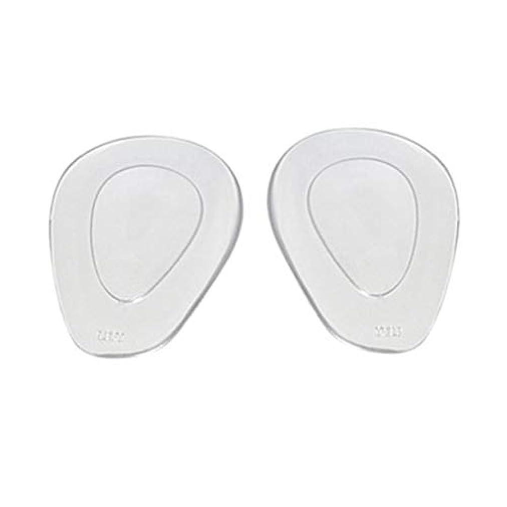 従う到着する呼吸するゲル滑り止めインソール靴フロントハイヒールパッドフットケアクッション-透明