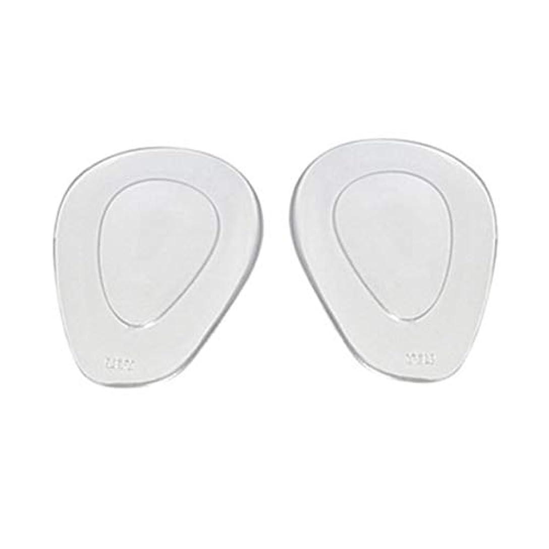 アラートモーション不安定ゲル滑り止めインソール靴フロントハイヒールパッドフットケアクッション-透明