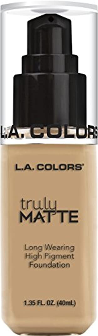 精神医学保証金人類L.A. COLORS Truly Matte Foundation - Natural (並行輸入品)
