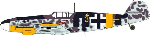 """1/72 WWII ドイツ空軍戦闘機 メッサーシュミット Bf109 """"G-4"""""""