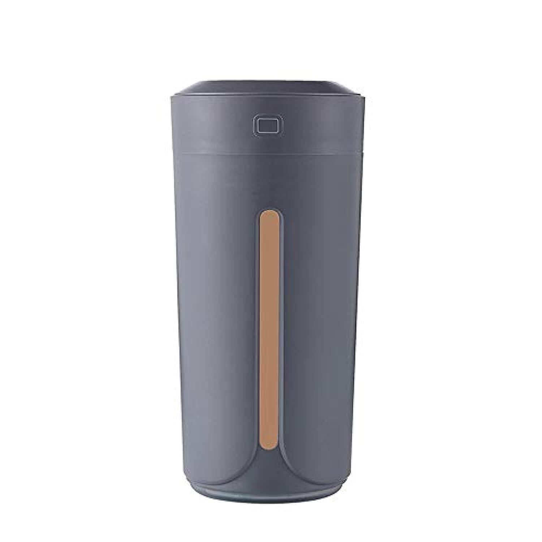 夜のライトエアネットの清浄器が付いている色の軽いコップ車の加湿器小型加湿器USBの無言 (色 : Gray)