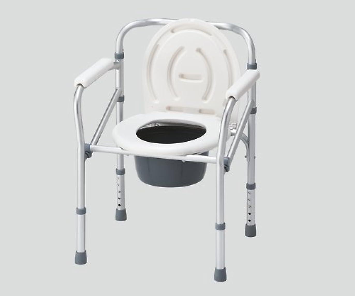 タウポ湖田舎曖昧なナビス 折りたたみ便器椅子 NC616 (アズワン(As-one)) (ポータブルトイレ)