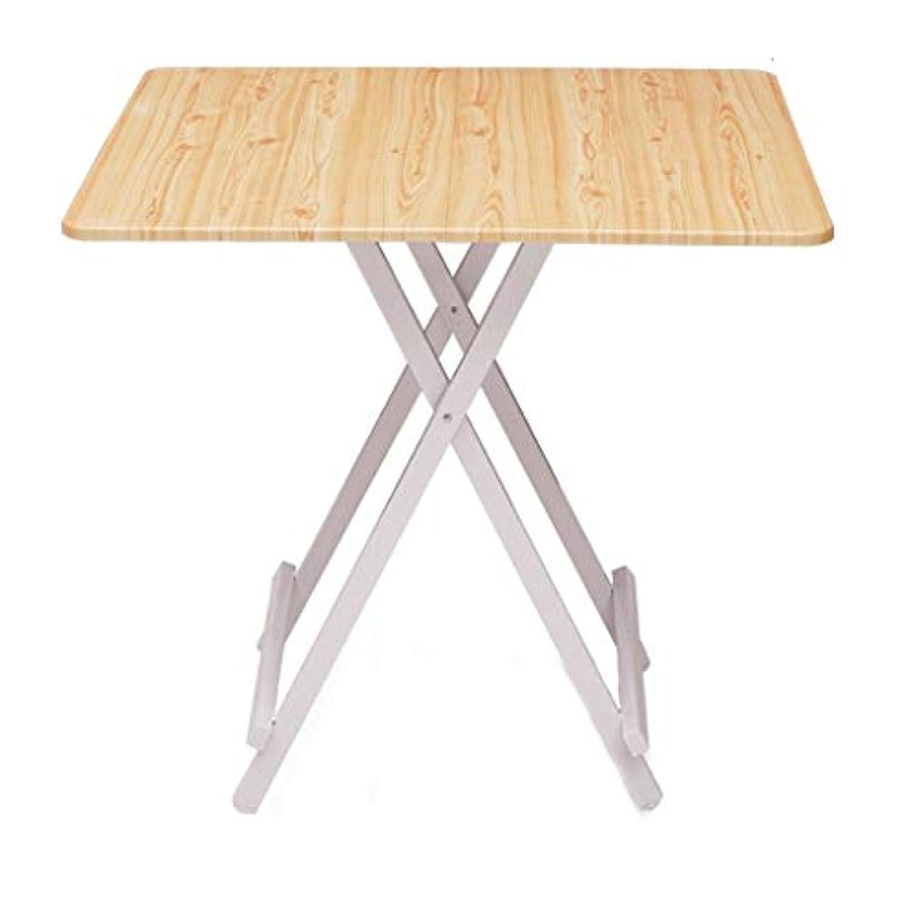 学校教育劣る遵守するNJ 折りたたみ式テーブル- 家庭用木製木製カラースクエア折りたたみテーブル、屋外ポータブル折り畳みダイニングテーブル (色 : 木の色, サイズ さいず : 70x70x74cm)