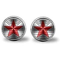 Bucky Barnes aka Winter Soldier Logo earrings
