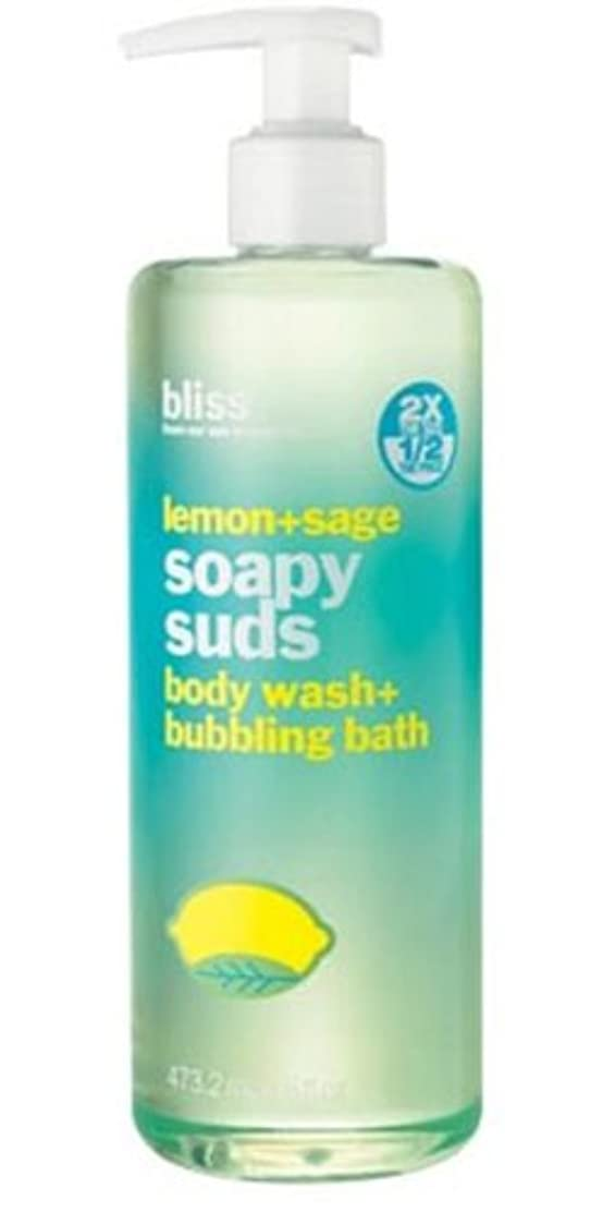 被る行動文芸Bliss Lemon-sage Soapy Suds Body Wash-bubbling Bath (並行輸入品) [並行輸入品]