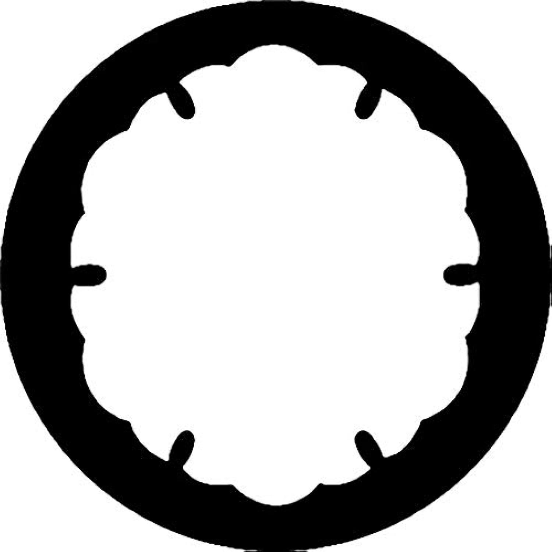 家紋シール 雪紋 布タイプ 直径40mm 6枚セット NS4-3786