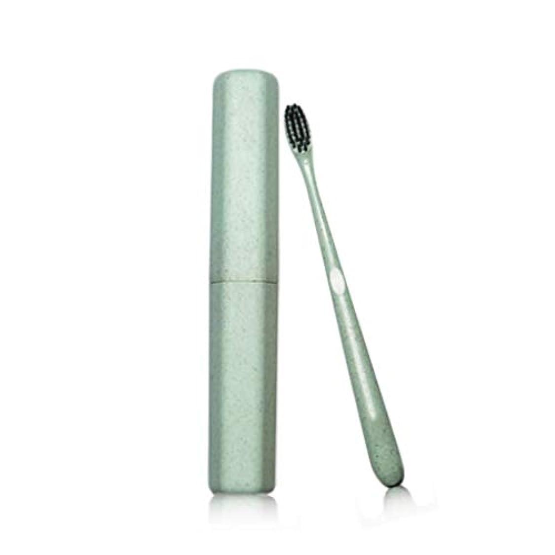 電圧現像測定歯ブラシ大人のチューブ歯ブラシ特別なソフト竹炭ワイヤーカップル小さな頭の歯ブラシカスタムトラベル小麦麦わらの歯ブラシ (色 : Green, サイズ さいず : 40pcs)