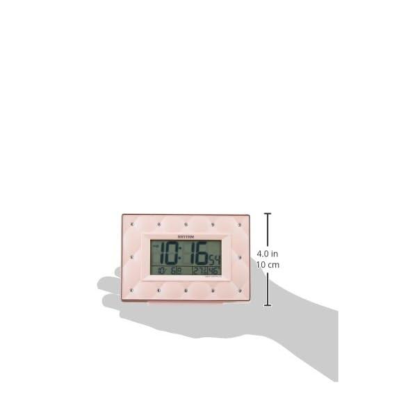 リズム時計 電波 目覚まし 時計 デジタル フ...の紹介画像3