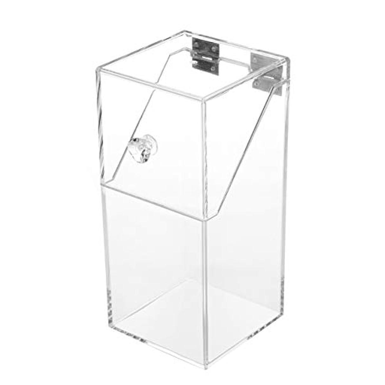 Saikogoods 透明アクリルメイクアレンジストレージボックスシンプルなデザイン透明卓上化粧ブラシホルダーオーガナイザーケース トランスペアレント L