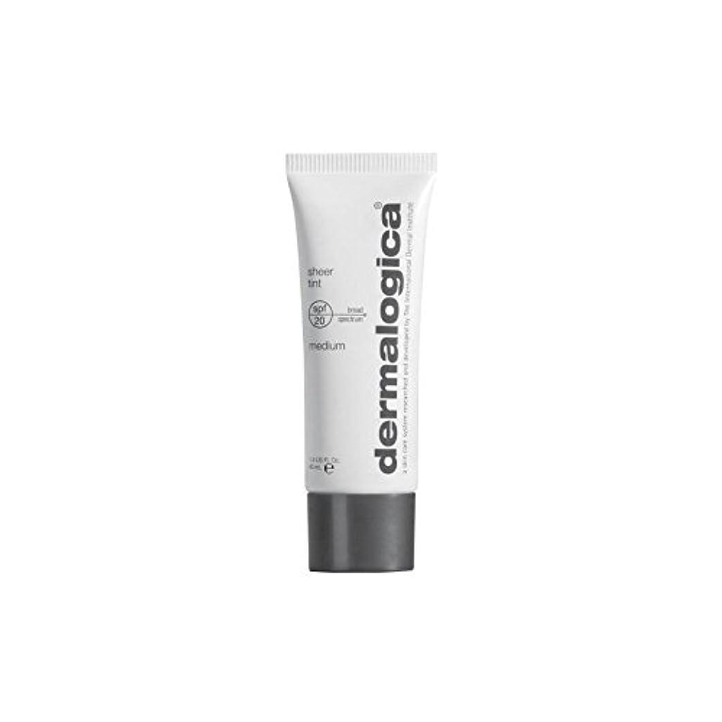 酸度化学薬品平らにするダーマロジカシアーティント 20-メディア x4 - Dermalogica Sheer Tint Spf 20- Medium (Pack of 4) [並行輸入品]