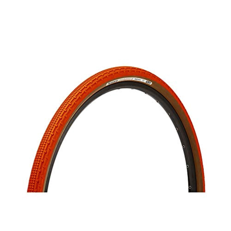 Panaracer GravelKing SKタイヤ 700×35インチ チューブレス 折りたたみ式 オレンジ/ブラウン