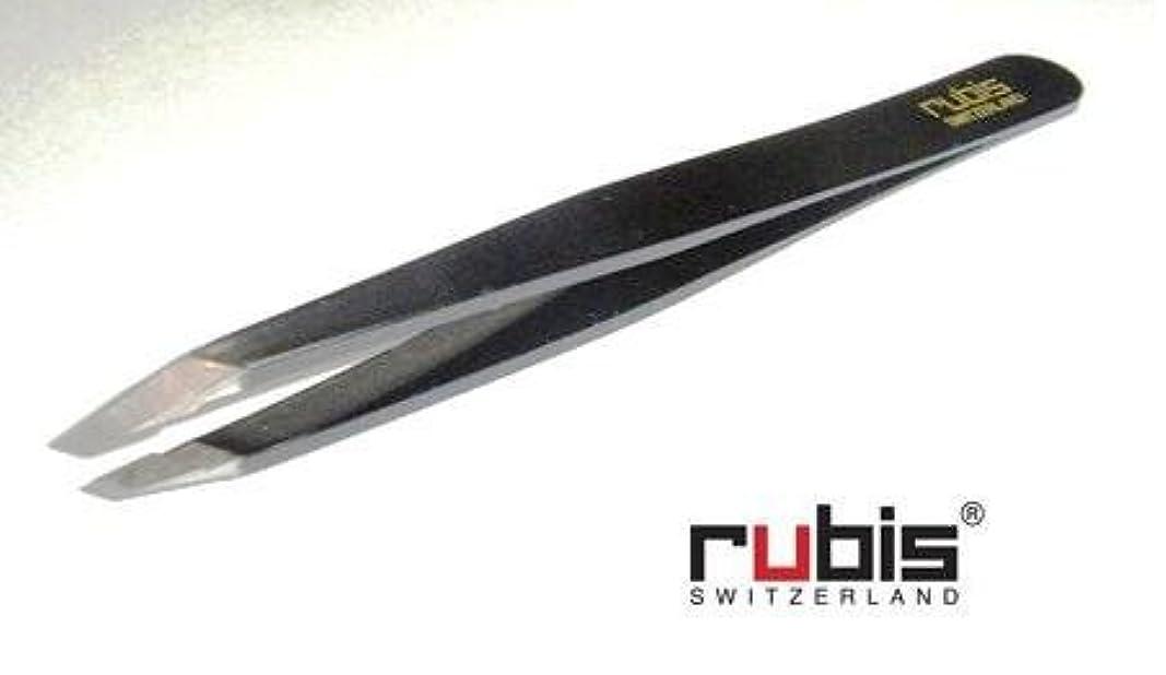 弱い妨げる臨検ルビス(スイス) ツイザー95mm(ブラック)先斜