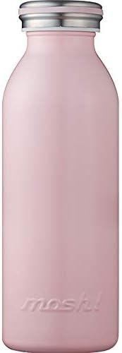 水筒 真空断熱 スクリュー式 マグ ボトル 0.45L ピーチ mosh! (モッシュ! ) DMMB450PE
