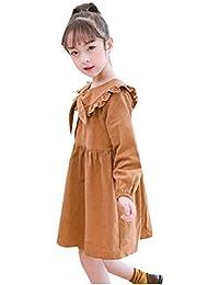 Tootess ガールボウタイコットンピュアカラースタイリッシュフリルドレスドレス