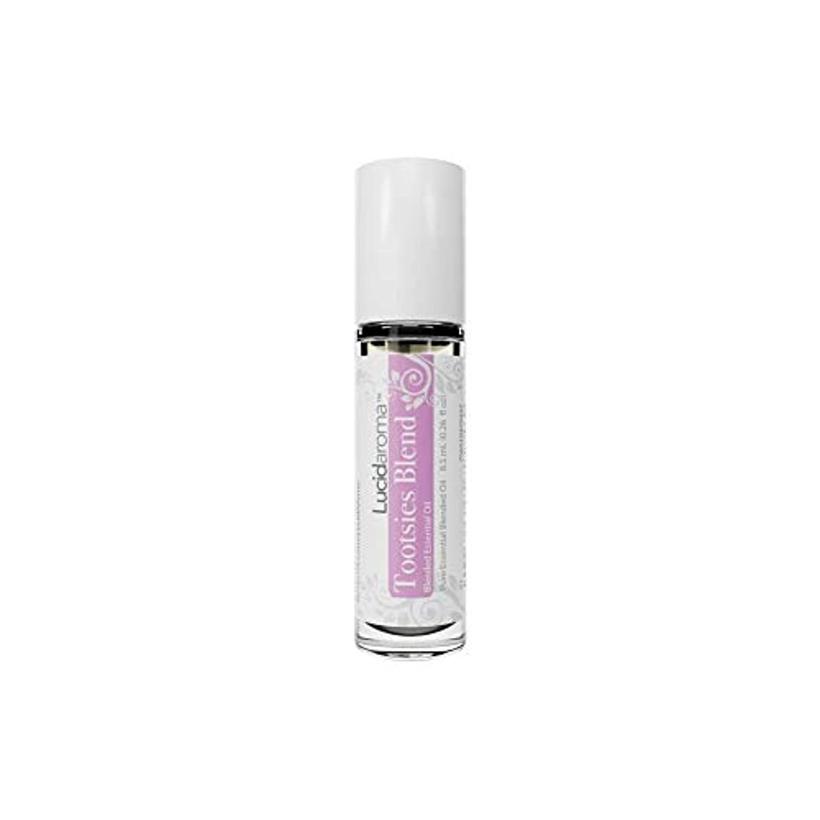 ストロー虫を数える神話Lucid Aroma Tootsies Blend トッツィーブレンド ロールオン アロマオイル 8.5mL (塗るアロマ) 100%天然 携帯便利 ピュア エッセンシャル アメリカ製