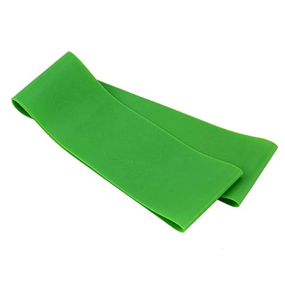 マークされた名詞チロ滑り止め伸縮性ゴム弾性ヨガベルトバンドプルロープ張力抵抗バンドループ強度のためのフィットネスヨガツール - グリーン