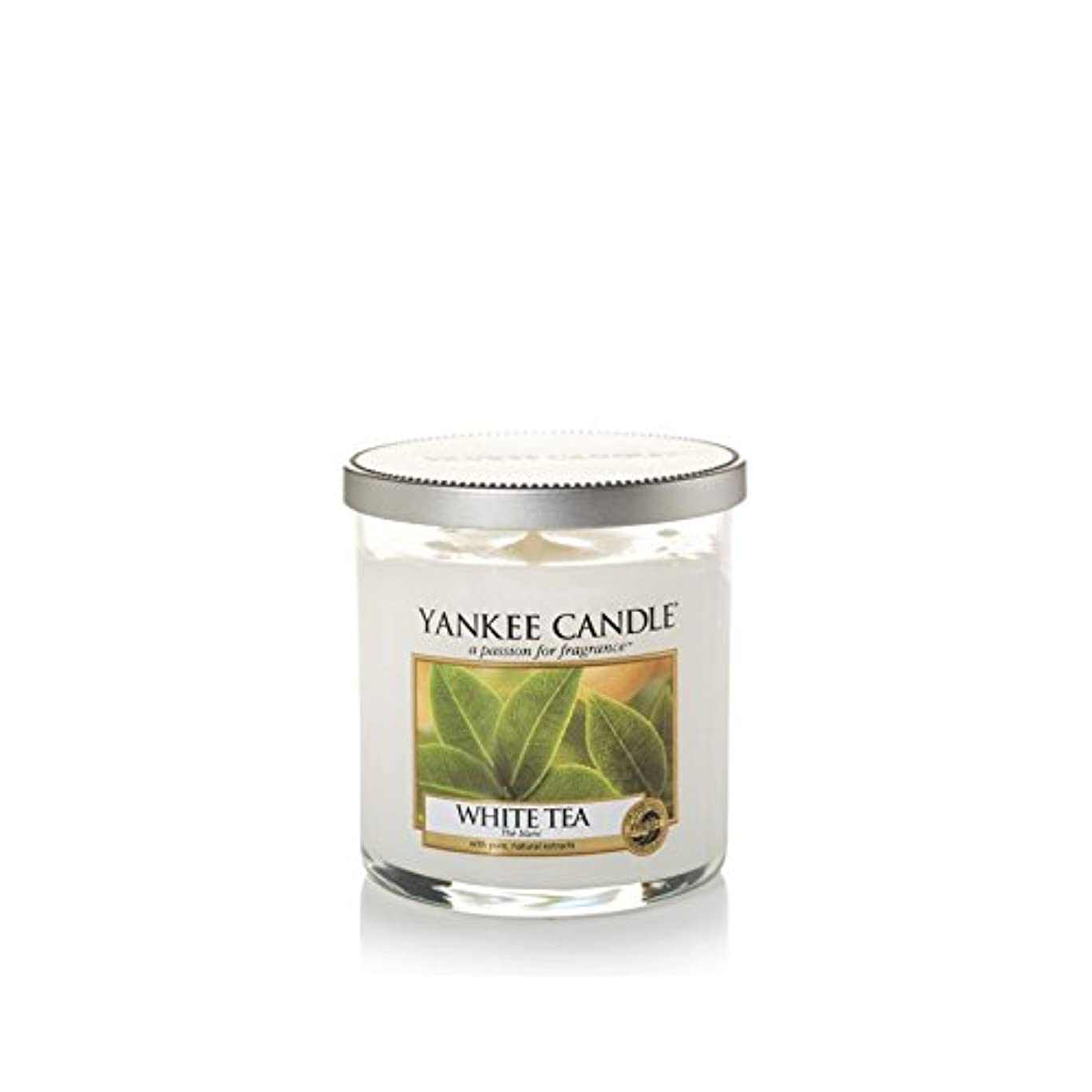 軽く優勢かりてヤンキーキャンドルの小さな柱キャンドル - ホワイトティー - Yankee Candles Small Pillar Candle - White Tea (Yankee Candles) [並行輸入品]
