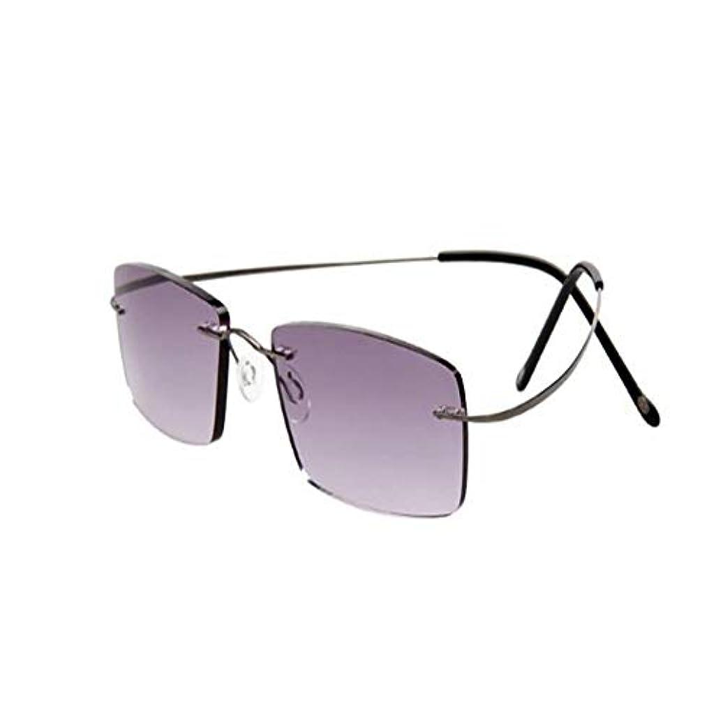 耐放射線ガラス、高精細樹脂アンチブルーライトアンチ疲労純チタンフレームレス光学老眼鏡、男性と女性の超薄型超軽量老眼鏡、両親への贈り物