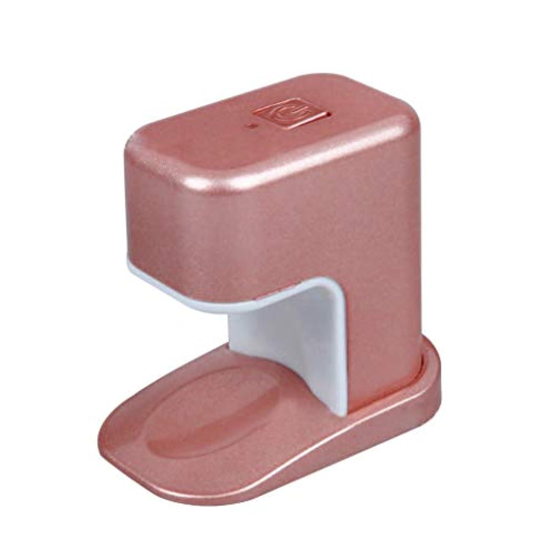 カート彼の怖がらせるPaick ネイルドライヤー 3W LED電球 USBケーブル UV マニキュアドライヤー ニポータブル単一指ネイルアートのLED 3色選べ - ピンク