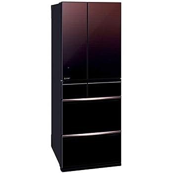 三菱 572L 6ドアノンフロン冷蔵庫 置けるスマート大容量 グラデーションブラウン MR-MX57D-ZT