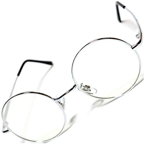 シルバー×クリア 伊達メガネ 伊達眼鏡 だてめがね だて眼鏡 度なしメガネ ファッションメガネ めがね 眼鏡 メンズ レディース 丸 四角 透明 色付き 小さい 大きい 軽い uvカット 紫外線カット 父の日 1040208-F-077s