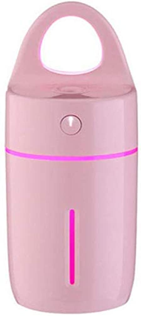 楽観的マイナス欠如SOTCE アロマディフューザー加湿器超音波霧化技術満足のいく解決策美しい装飾品質の製品ライト (Color : Pink)
