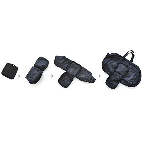 軽量&大容量パッカブルボストンバッグ 大 ブラック (登山/山登り/キャンプ/トレッキング/バッグ/バックパック/リュックサック/ザック/)防災用