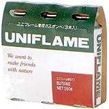 ユニフレーム(UNIFLAME) レギュラーガス(3本) 650028 [HTRC 2.1]
