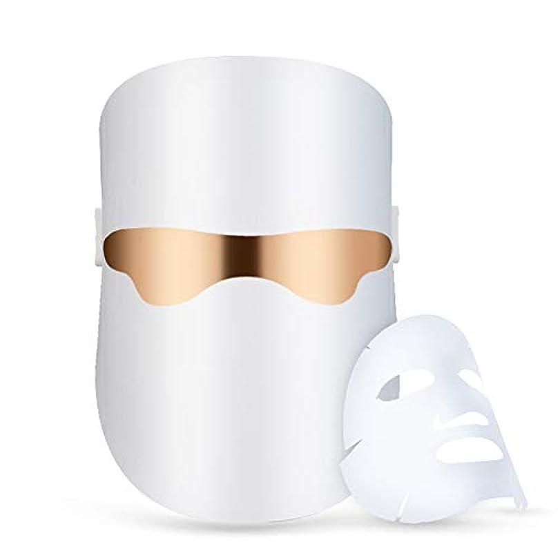 無声で輝く注文ライトセラピーにきび治療LEDは、にきび顔の皮膚の治療のためのフェイシャル?セラピー無制限のセッションをマスク - レッド/ブルー/オレンジの個別ライト