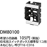 DM80100 パナソニック 工事用 配線器具 住宅用 スイッチボックス (標準型 1コ用)