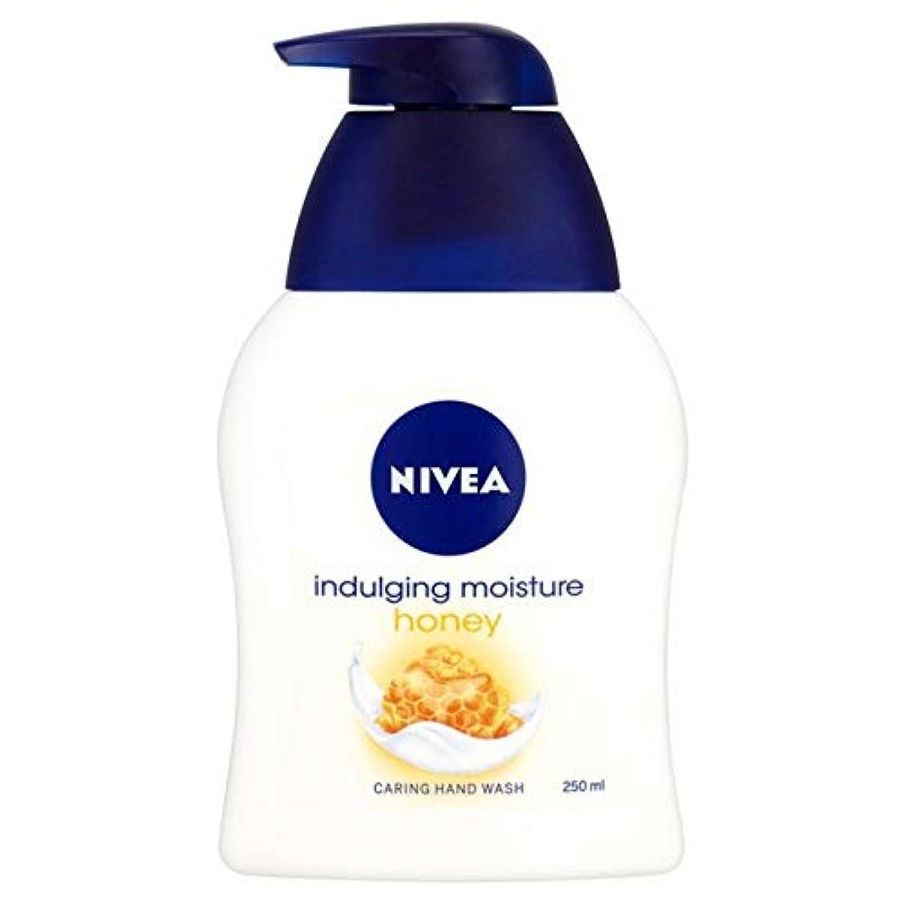 あいにく韓国フィードバック[Nivea ] ニベアふける水分蜂蜜思いやり手洗いの250ミリリットル - Nivea Indulging Moisture Honey Caring Hand Wash 250ml [並行輸入品]