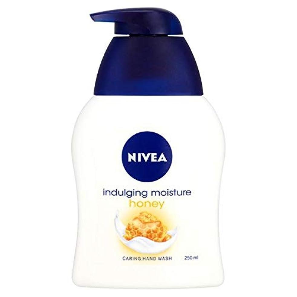 大臣一晩架空の[Nivea ] ニベアふける水分蜂蜜思いやり手洗いの250ミリリットル - Nivea Indulging Moisture Honey Caring Hand Wash 250ml [並行輸入品]