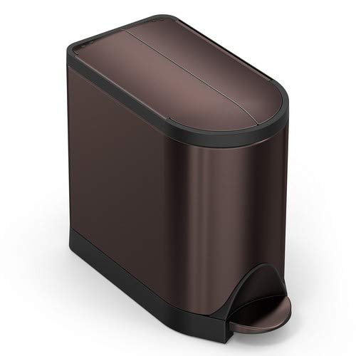 simplehuman(シンプルヒューマン) バタフライステップカン 10L ブラウン CW2043 幅19.8×奥行39.7×高さ34.7cm 1個